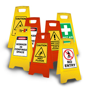 Safety A-Frame Floor Signs